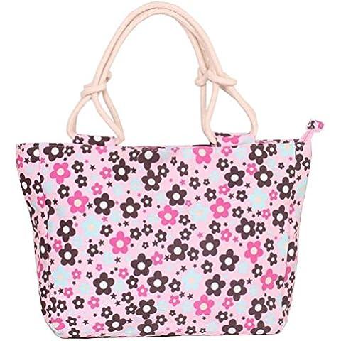 Swesy Borse modo ha stampato Fiore Donne Tracolla Canvas Handbag