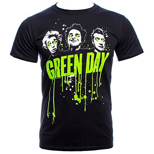 Green Day Uomo Drip T-Shirt Small Nero