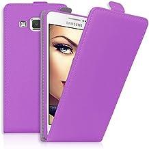 mtb more energy® Funda / Flip-Case para Samsung Galaxy A5 / A5 Duos (SM-A500, 5.0'')   morado   cuero sintético   carcasa cubierta estuche