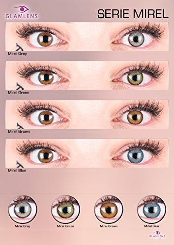 """Sehr stark deckende und natürliche graue Kontaktlinsen SILIKON COMFORT NEUHEIT farbig """"Mirel Grey"""" + Behälter von GLAMLENS - 1 Paar (2 Stück) - DIA 14.00 - ohne Stärke 0.00 Dioptrien - 3"""