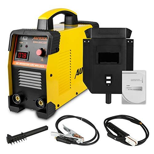 Schweißgerät Inverter Set ARC 160A, AUTOOL Schweißgerät Lichtbogen Elektroden IGBT Welder Stick...