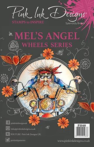 Pink Ink Designs Stempel Mel's Angel, A5, transparent (Pink Harley-davidson Hat)