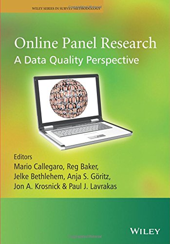 Online Panel Research - A Data Quality Perspective (Wiley Series in Survey Methodology)