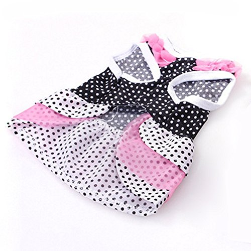 PinzhiSommer verschiedene Haustier Welpen kleinen Hund Katze Kleidung Cute Skirt Dress (Typ4)