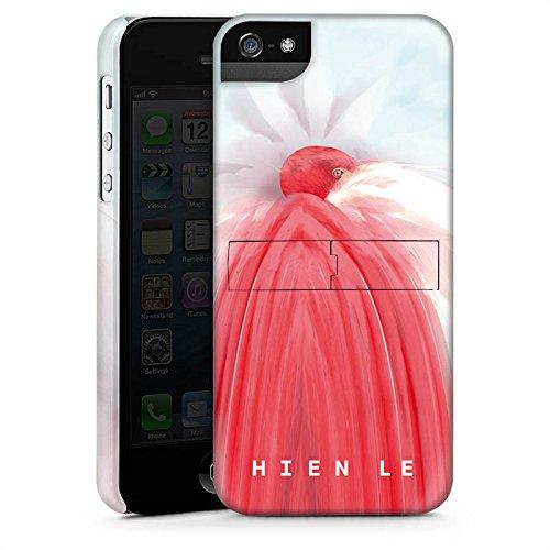 Apple iPhone 5s Housse Étui Protection Coque HIEN LE Fashionweek Oiseau CasStandup blanc