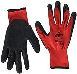 Uvex 60599 10 Unigrip PL 6628 Safety Glove, Size: 10, Red, Black