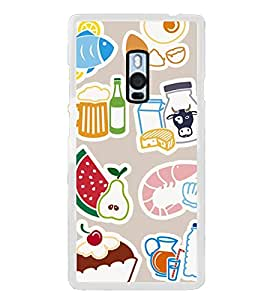 Food Graffiti 2D Hard Polycarbonate Designer Back Case Cover for OnePlus 2 :: OnePlus Two :: One +2