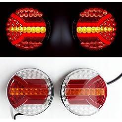 4x LED posteriore neon combinazione coda luci lampade 10/30V dinamica indicatori di direzione e-contrassegnato telaio camion rimorchio camper Bus