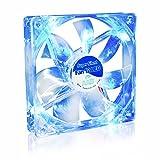 AAB Cooling Super Silent Fan 12 Blue LED - Leise und Efizient 120mm Gehäuselüfter mit 4 Anti-Vibration-Pads und Blauer LED Hintergrundbeleuchtung - Prozessor Lüfter | PC Fan | Gehäuselüfter LED Blau | CPU Kühler