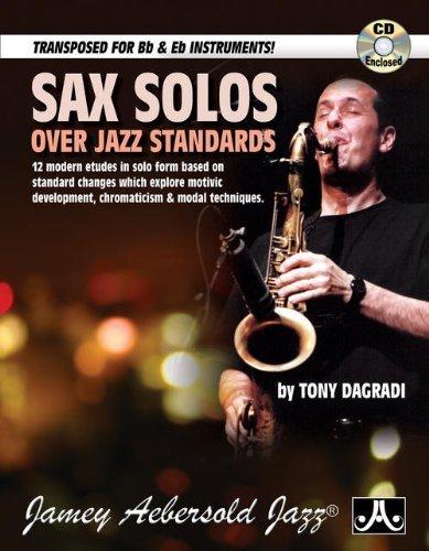 Sax Solos Over Jazz Standards (Book & CD Set) by Tony Dagradi (2012-01-17)