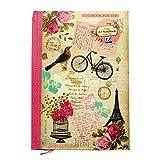 A5 Notizbuch - Neu Vintage-Design - 70 Blatt = 140 Seiten - Liniert - Größe - 210mm x 148mm