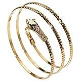 Schlange Oberarmband Snake Armreif Bracelet Schmuck Legierung Oberarmreif Gold