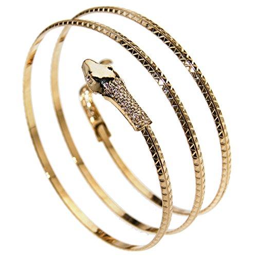 Schlange Oberarmband Snake Armreif Bracelet Schmuck Legierung Oberarmreif Gold (Gold Schlange Armband)