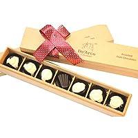 De'Arco Chocolatier PREMIUM GIFT IDEAS FOR ANNIVERSARY, DARK CHOCOLATES, Plaine TREAT, FRENCH STYLE LUXURY CHOCOLATES, 7 PIECES