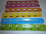 24x Klatscharmband Smiley Gesichter Schnapparmband Mitgebsel Kindergeburtstag