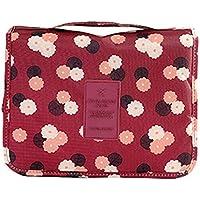 portatile multifunzione Beauty da viaggio cosmetici Beauty Case Trousse Make Up Borse Pouch WineRed