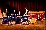 Feuerzangentasse 4er-Set blau - smart