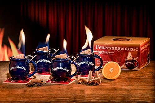 Feuerzangentasse 4er-Set blau - smart
