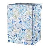 Fenteer Fenteer wasserdichte Waschmaschine Trockner Abdeckung Schutzhülle Staubschutz Sonnenschutz - Blaue Monstera-Blätter -L