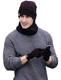 Outflower - Set de bufanda, gorro y guantes - para hombre