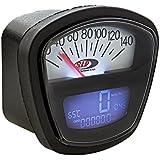 Drehzahlmesser/Tacho SIP 2.0 - 140 (km/h/mph) / 140000 (Umin/rpm), Ziffernblatt:schwarz/weiß, LCD schwarz, Anschluss:2,7mm, digital/analog, 18 Funktionen