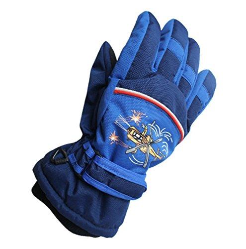 Ski Wasserdichte Kinder Handschuhe Winter Warm Outdoor Riding Verdickung Handschuhe (Dunkelblau, for 4-6 Jahre Alt Kinder) | 00661021690627