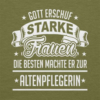 TEXLAB - Altenpflegerin - Herren T-Shirt Oliv