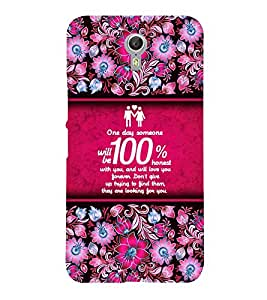 Honest Love Quote 3D Hard Polycarbonate Designer Back Case Cover for Lenovo Zuk Z2 Pro