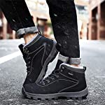 UBFEN Mens Womens Snow Boots Winter Warm Plush Booties Outdoor Sports Walking Hiking High Top Shoes 15