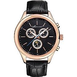 Men's style leather strap watch/Sports waterproof watch/Business mens watch-B