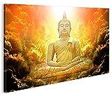 islandburner Bild Bilder auf Leinwand Zen Buddha V3 1p Abstrakt Joga XXL Poster Leinwandbild Wandbild Dekoartikel Wohnzimmer Marke