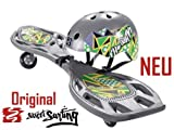 Streetsurfing Waveboard incl. Helm Modell The Wave LX Grau Charcoal
