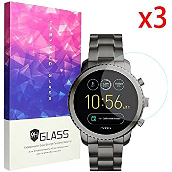 Ceston 9H Protection Ecran En Verre Trempé Pour Fossil Q Explorist (3 Pack)