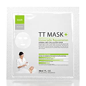 Immortelle Rejuvenation Herbal Bio Cellulose Mask - Box of 3, anti-Aging, Beauty Booster, Wrinkle free Face Mask Cum Face Pack