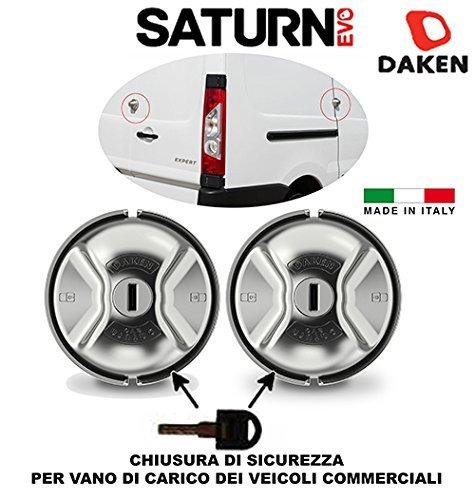 Paar 2Vorhängeschlösser Transporter bloccaport antifurt Daken Saturn Evo hochwertige Verschluss manuell von Sicherheit für Fach-Belastung der Nutzfahrzeuge Typ Meroni-Doktrin UFO + UFO +