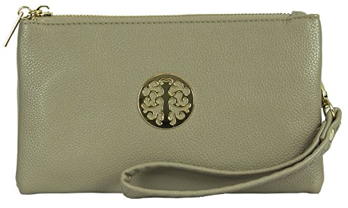 Big Handbag Shop, Borsetta da polso donna Light Taupe