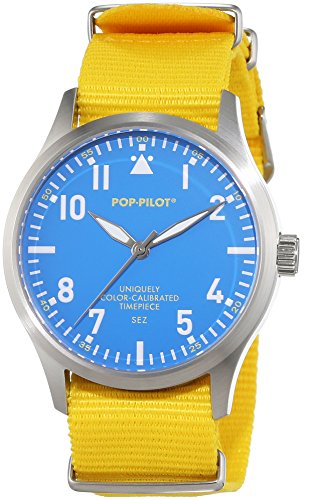 Pop-Pilot Unisex-Armbanduhr SEZ Analog Quarz Nylon P4260362630017 - Damen Aviator Watch