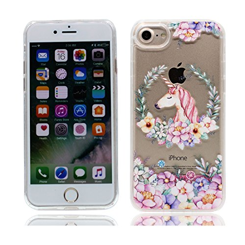 e8f2681effb iPhone 7 Liquid Carcasa,iPhone 7 funda,Cool Creative Sparkle Bling Glitter  Brillante líquido