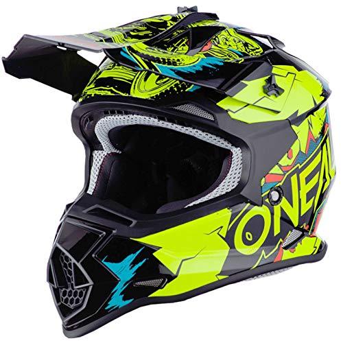 O'Neal 2Series Villain Kinder Moto Cross Helm MX All Mountain Bike Gelände Enduro Quad Offroad, 0200-4, Farbe Neon Gelb, Größe L