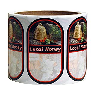 Mann Lake 250 Count Garden Skep Local Honey Oval Label, Small 7