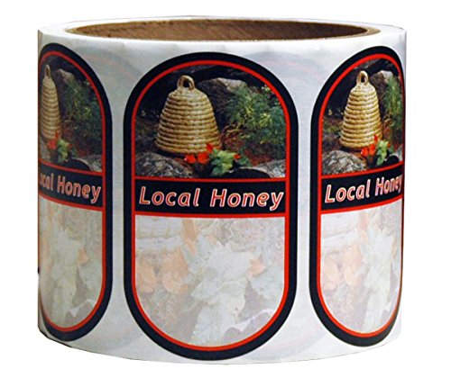 Mann Lake 250 Count Garden Skep Local Honey Oval Label, Small 1