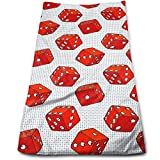 Hipiyoled Everybody Knows The Dice Cotton Bath Towels for Hotel-Spa-Pool-Gym-Bathroom - Super Soft Absorbent Ringspun Towels
