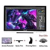Huion KAMVAS GT-220 V2 Tavoletta Grafica da Disegno con Penna a 8192 Pressioni Monitor da 21.5 Pollici 1920 x 1080 HD IPS Display a Penna per Windows e Mac Argento (GT-220 V2 argento)