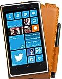 Perfect Case exklusive Flip Echtleder Tasche mit Stifthalterung für Nokia Lumia 1020 braun