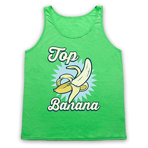 Top Banana Funny Tank-Top Weste Neon Grun