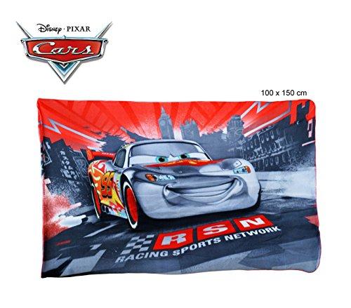 Disney coperta in pile con stampa cars 100x150cm caldo plaid con personaggi 0926. mws