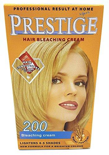 Vips Prestige Coloration Permanente pour Cheveux à l'huile d'argan, de macadamia et de chia 200 Crème de blanchiment