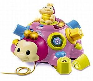 VTech Baby Vrolijke Vormenkever Roze Chica - Juegos educativos (Rosa, Chica, 3 año(s), Escarabajo, Holandés, De plástico)
