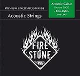 Fire and Stone 665470 Cordes pour Guitare Acoustique 80/20 Bronze