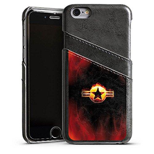 Apple iPhone 4 Housse Étui Silicone Coque Protection Étoile Emblême Flammes Étui en cuir gris